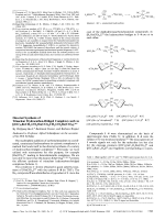 Directed Synthesis of Trinuclear Hydrocarbon-Bridged Complexes such as [(OC)5ReCH2CH2Os(CO)4CH2CH2Re(CO)5].