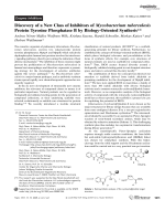 Discovery of a New Class of Inhibitors of Mycobacterium tuberculosis Protein Tyrosine PhosphataseB by Biology-Oriented Synthesis.