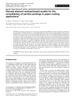 Discrete element method-based models for the consolidation of particle packings in paper-coating applications.