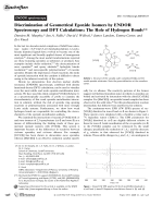 Discrimination of Geometrical Epoxide Isomers by ENDOR Spectroscopy and DFT Calculations  The Role of Hydrogen Bonds.
