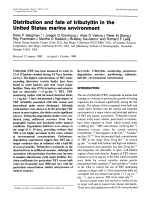 Distribution and fate of tributyltin in the united states marine environment.
