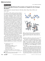 DNA-Controlled Bivalent Presentation of Ligands for the Estrogen Receptor.