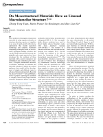 Do Mesostructured Materials Have an Unusual Macrolamellar Structure.