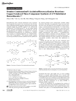 Domino CondensationS-ArylationHeterocyclization Reactions  Copper-Catalyzed Three-Component Synthesis of 2-N-Substituted Benzothiazoles.