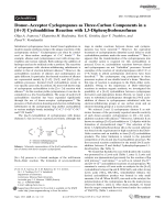 DonorЦAcceptor Cyclopropanes as Three-Carbon Components in a [4+3] Cycloaddition Reaction with 1 3-Diphenylisobenzofuran.