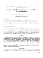 Doublets of polyoxymethylene and associated growth features.
