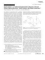 Dual Catalysis  A Combined Enantioselective Brnsted Acid and Metal-Catalyzed ReactionЧMetal Catalysis with Chiral Counterions.