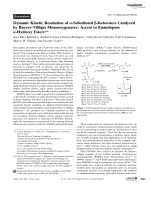 Dynamic Kinetic Resolution of -Substituted -Ketoesters Catalyzed by BaeyerЦVilliger Monooxygenases  Access to Enantiopure -Hydroxy Esters.