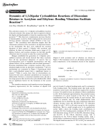 Dynamics of 1 3-Dipolar Cycloaddition Reactions of Diazonium Betaines to Acetylene and Ethylene  Bending Vibrations Facilitate Reaction.