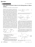 Early Main-Group Metal Catalysts for the Hydrogenation of Alkenes with H2.