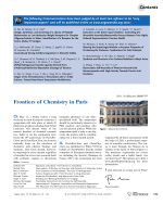 Editorial  Frontiers of Chemistry in Paris.