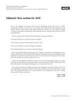 Editorial  New section for AOC.