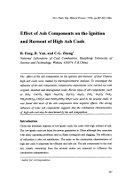 Effect of Ash Components on the Ignition and Burnout of High Ash Coals.