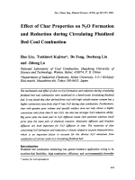 Effect of Char Properties on N2O Formation and Reduction during Circulating Fluidized Bed Coal Combustion.