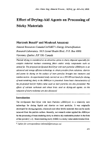 Effect of Drying-Aid Agents on Processing of Sticky Materials.