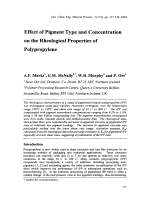 Effect of Pigment Type and Concentration on the Rheological Properties of Polypropylene.