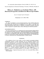 Effect of -radiation on synthetic fibresЦIII electrical properties and electron microscope studies.