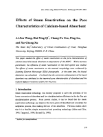 Effects of Steam Reactivation on the Pore Characteristics of Calcium-based Absorbent.