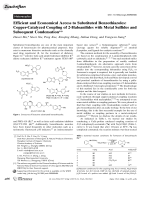 Efficient and Economical Access to Substituted Benzothiazoles  Copper-Catalyzed Coupling of 2-Haloanilides with Metal Sulfides and Subsequent Condensation.