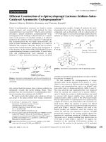 Efficient Construction of -Spirocyclopropyl Lactones  IridiumЦSalen-Catalyzed Asymmetric Cyclopropanation.