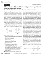 Efficient Fixation of Carbon Dioxide by Hypervalent Organobismuth Oxide  Hydroxide  and Alkoxide.