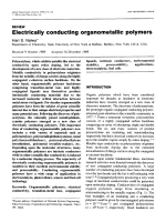 Electrically conducting organometallic polymers.