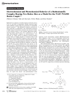 Electrochemical and Photochemical Behavior of a Ruthenium(II) Complex Bearing Two Redox Sites as a Model for the NAD+NADH Redox Couple.
