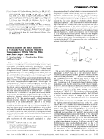 Electron Transfer and Polar Reactions of Cyclizable Anion Radicals  Structural Consequences of Orbital Selection Rules and Chain-Length Constraints.
