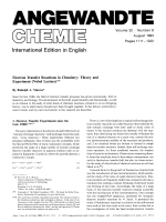 Electron Transfer Reactions in Chemistry  Theory and Experiment (Nobel Lecture).