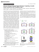 Electron Transport through Single Molecules Comprising Aromatic Stacks Enclosed in Self-Assembled Cages.
