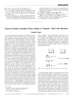 Electron-Transfer Transition States  Bound or UnboundЧThat is the Question!.