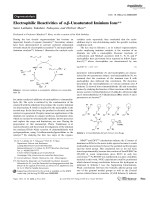 Electrophilic Reactivities of  -Unsaturated Iminium Ions.