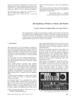 Electroplating of Plastics in Theory and Practice.