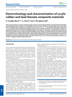 Electrorheology and characterization of acrylic rubber and lead titanate composite materials.