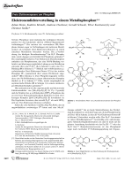 Elektronendichteverteilung in einem Metallaphosphan.
