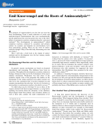 Emil Knoevenagel and the Roots of Aminocatalysis.