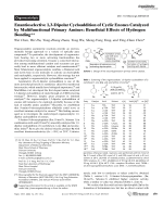 Enantioselective 1 3-Dipolar Cycloaddition of Cyclic Enones Catalyzed by Multifunctional Primary Amines  Beneficial Effects of Hydrogen Bonding.