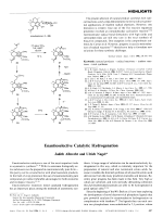 Enantioselective Catalytic Hydrogenation.