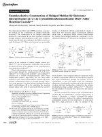 Enantioselective Construction of Bridged Multicyclic Skeletons  Intermolecular [2+2+2] CycloadditionIntramolecular DielsЦAlder Reaction Cascade.