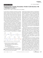 Enantioselective Enolate Protonations  FriedelЦCrafts Reactions with -Substituted Acrylates.
