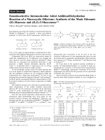 Enantioselective Intramolecular Aldol AdditionDehydration Reaction of a Macrocyclic Diketone  Synthesis of the Musk Odorants (R)-Muscone and (R Z)-5-Muscenone.