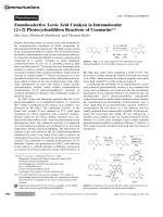 Enantioselective Lewis Acid Catalysis in Intramolecular [2+2] Photocycloaddition Reactions of Coumarins.