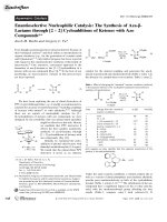 Enantioselective Nucleophilic Catalysis  The Synthesis of Aza--Lactams through [2+2]Cycloadditions of Ketenes with Azo Compounds.