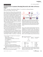 Enantioselective Symmetry Breaking Directed by the Order of Process Steps.