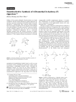 Enantioselective Synthesis of 4-Desmethyl-3-hydroxy-15-rippertene.