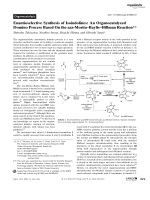 Enantioselective Synthesis of Isoindolines  An Organocatalyzed Domino Process Based On the aza-MoritaЦBaylisЦHillman Reaction.