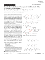 Enantioselective Synthesis of OasomycinA  Part I  Synthesis of the C1ЦC12 and C13ЦC28 Subunits.