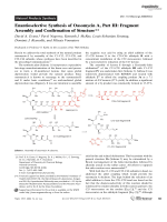Enantioselective Synthesis of OasomycinA  Part III  Fragment Assembly and Confirmation of Structure.