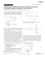 Enantioselective Synthesis of Protected Amines by the Catalytic Asymmetric Addition of Hydrazoic Acid to Ketenes.