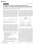Enantioselective Synthesis of Trifluoromethyl-Substituted 2-Isoxazolines  Asymmetric HydroxylamineEnone Cascade Reaction.